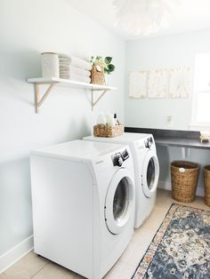 How I simplify laundry in our home; easy tips and tricks to use today in your own life. By Rhiannon Bosse #laundrytips #lifestyleblogger #hometips #cleaningtips #laundryhack #bhgrefresh