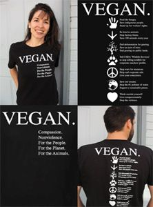 Vegan Compassion Organic Cotton T-Shirt by NonviolenceUnited.org - Black -- VeganEssentials Online Store