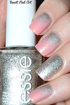 Cute! Reverse glitter gradient