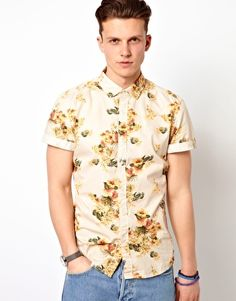 Esprit Shirt With Floral Print