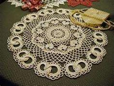 Interlocked Rings Wedding Doily