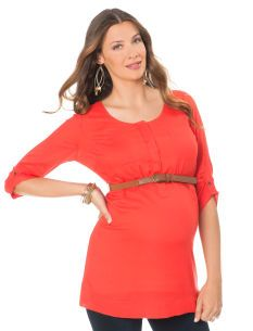 Convertible Sleeves: A Pea in the Pod Belted Maternity Tunic