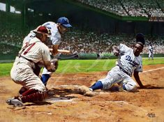 Baseball Posters, Baseball Art, Dodgers Baseball, Baseball Painting, Negro League Baseball, The Sandlot, Jackie Robinson, Sports Figures, Sports