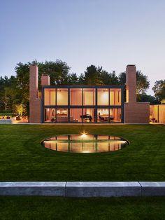Louis Kahn's Korman Residence Interior Renovation by Jennifer Post Design - CAANdesign | Architecture and home design blog