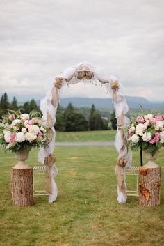 Burlap Arbor Wedding Planning Design by White Dress Events