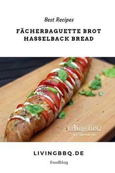 Fächerbaguette Brot in Anlehnung an die Hasselback Potatoe mit Tomate Mozzarella. Ein perfektes Partyfood! #fächerbaguettebrot #partybrot #backen #vorspeise #grillen #bbq