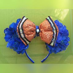 Finding Nemo Minnie Mouse Disney Ears - Nemo inspired ears!