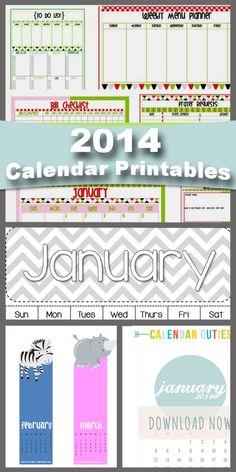 2014 Calendar Printables  #howdoesshe 2014calendar #2014printable #calendar #printable #organization howdoesshe.com