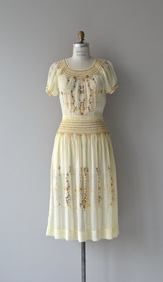 Syrto dress vintage 1920s dress embroidered by DearGolden