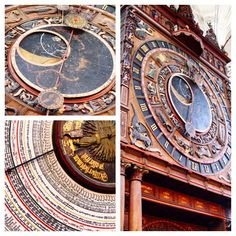 Amazing astronomical clock from 1472 is the only one still running! Located in Rostock, Germany at the Baltic Sea. St. Mary's Church.