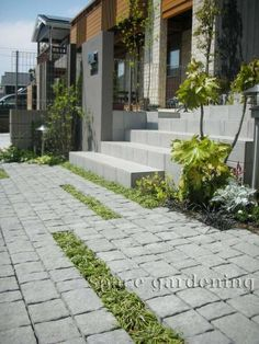 石畳風アプローチ素材:デザイナーブログ