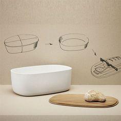 RigTig brødboks - hvit - RigTig by Stelton Bread Boxes, Dog Bowls, Soap, Dishes, Kitchen, Design, Bamboo, Cooking, Tablewares