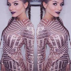 Dvojčátka👯 #dutchbraids#sparklydress#darklips