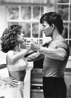 Patrick Swayze and Jennifer Grey - Favourite Film EVER! Dirty Dancing, Hungry Eyes (theme from this scene), photograph, photo b/w Jennifer Grey, Patrick Swayze, Love Movie, Movie Stars, Movie Tv, 80s Movies, Great Movies, Dance Movies, Brad Pitt