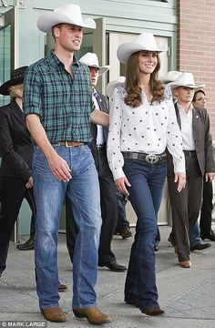<3  Will and Kate..These two know how to wear jeans!!