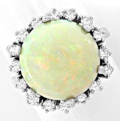 Foto 2, Neu! Brillant-Ring Traum-Riesen-Opal!! Weissgold Luxus!, S8712