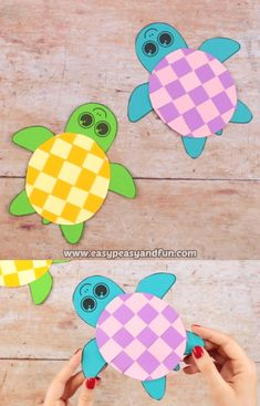 Summer time is great to put the scissor skills at test and what better way than by making this colorful Paper Weaving Turtle Craft. basteln Paper Weaving Turtle Craft for Kids Animal Crafts For Kids, Paper Crafts For Kids, Craft Activities For Kids, Toddler Crafts, Preschool Crafts, Art For Kids, Craft Kids, Kids Diy, Crafts For Kindergarten