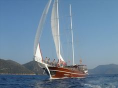 Large Group Spring Break Yacht Rental in the Mediterranean of Turkey. Caferoglu 7 gulet.