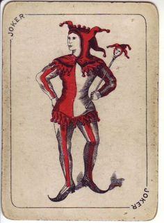 1 Single VINTAGE Swap//Playing Card ENN PIERROT HARLEQUIN /'AFTER DANCE AF-1-1-B/'