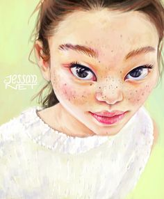 Freckled asian girl <3   Reference here:http://virgin-japan.tumblr.com/post/121587636782/ygkplusfamily-instagram-yoon-young  (It's not a portrait)