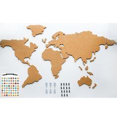 Cork board world map black decorao apt novo pinterest cork adventure map cork world map buy gifts online from hard to find gifts australia hard to find homewares online gifts for him gifts for her gumiabroncs Gallery