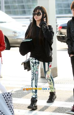 Black Long Sleeve Plain Top Airport Fashion of Park Bom