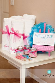 """pampering in a jar"" idea for a take home gift."