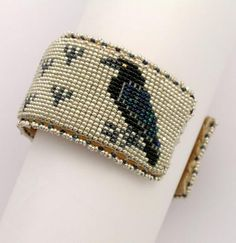 Raven Beaded Bracelet - Museum of Indian Arts and Culture - Stunning Art Work by New Mexico Artists