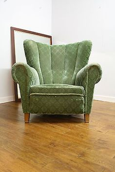 Vintage #retro - large danish 1930's #/40's #sprung armchair,  View more on the LINK: http://www.zeppy.io/product/gb/2/281916457038/