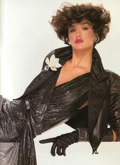 Janice Dickinson for Gianni Versace 1983