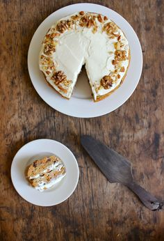 Banana Carrot Cake with Ricotta Honey Frosting