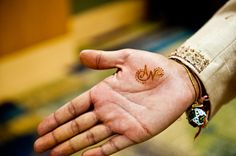 Groom's Hand with Mehndi - Initials of couple