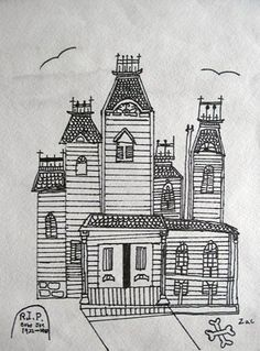 How to draw a barn house and fence step 5 active faith for Easy haunted house to draw