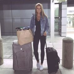 airport style- How to travel with style http://www.justtrendygirls.com/how-to-travel-with-style/