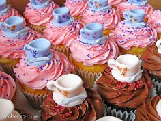 teacup cupcakes by cookies and cups,