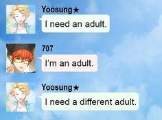 I'll be 707 when I'm older and this will definatley happen to me XD