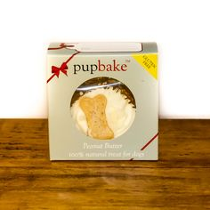 What goes well with tea? Cake! This peanut butter pupbake would be perfect with Woof & Brew's herbal Feel Good doggie teabags. Both available from The Artisan Pet Deli.