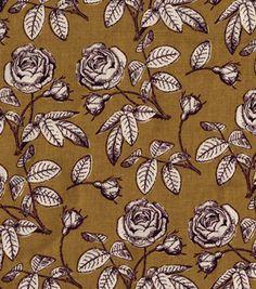 Keepsake Calico™ Cotton Fabric-Floral Gold   Fabric