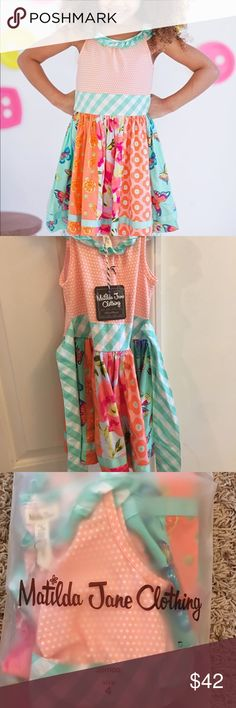 Matilda Jane Trifle Pudding Dress New from the Spring 2016 line. In new condition, comes with tags attached and in original shipping bag. Price firm, no bundle discount.   ⭐️5 Star Seller 🕒 Fast Shipper ➡️Read my reviews! Matilda Jane Dresses Casual