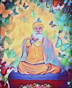 Guru Nanak Photo, Guru Nanak Ji, Nanak Dev Ji, Sikhism Beliefs, Sikhism Religion, Guru Granth Sahib Quotes, Shri Guru Granth Sahib, Founder Of Sikhism, Faith In God Quotes