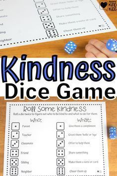 Make kindness a game and more of a habit with this roll some kindness dice game from Coffee and Carpool. Kids can play to speak and act with kindness more often. Parenting Teenagers, Parenting Advice, Fun Activities For Kids, Games For Kids, Boredom Busters For Kids, Kindness Challenge, Kindness Activities, Baby Care Tips, Dice Games