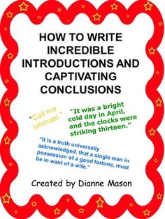 When writing informational texts, students need to know how to introduce a topic and how to write a concluding statement that supports the information presented in the writing. This handout is useful as a mini-lesson for that purpose.   by Dianne Mason