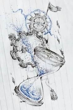 This was drawn months ago with a blue & black pen. I love drawing hourglasses whenever I'm bored in school. c: (Not really sure why) Broken Hourglass Hourglass Drawing, Hourglass Tattoo, Clock Drawings, Tattoo Drawings, Tattoo Art, Arm Drawing, Drawing Sketches, Time Heals Tattoo, Broken Clock Tattoo