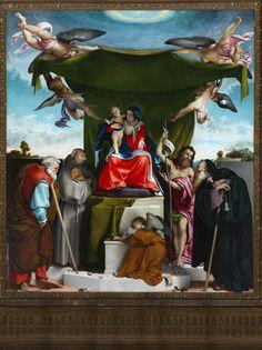 Bergamo: il pittore Lorenzo Lotto Pala con Madonna e Santi nella chiesa di S. Bernardino