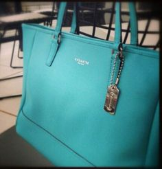 I don't care for Coach but this Tiffany blue is to die!!!