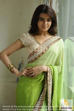 #Lime and Off White #Bollywood #Sarees #Collections