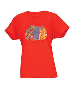 Look what I found on #zulily! Red & Yellow Feline Friends Short-Sleeve Tee by Laurel Burch #zulilyfinds