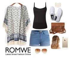 """""""Romwe contest"""" by aida-1999 ❤ liked on Polyvore featuring Pieces, Keds, The Cambridge Satchel Company, Alexis Bittar, Tommy Hilfiger, Agent 18, Forever 21 and romwe"""