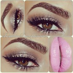 Not too fond of the lip color, but the eye makeup is super pretty!