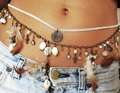 Boho chic jewelry, modern hippie belly chain, gypsy carefree style. FOLLOW http://www.pinterest.com/happygolicky/the-best-boho-chic-fashion-bohemian-jewelry-gypsy-/ for the BEST Bohemian fashion trends in clothing & jewelry